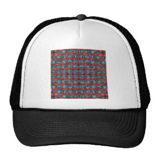Red And Blue Abstract Cap