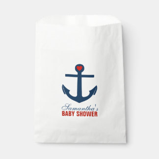Red and Blue Anchor Favour Bags