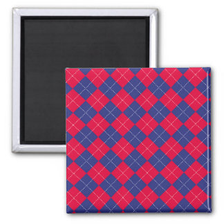 Red and Blue Argyle Magnets