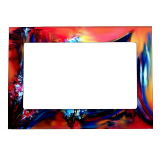 Red and Blue Brush Strokes Magnetic Frame