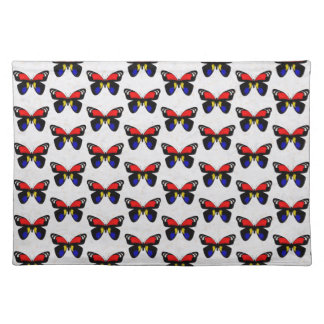 Red and Blue Butterflies Placemat