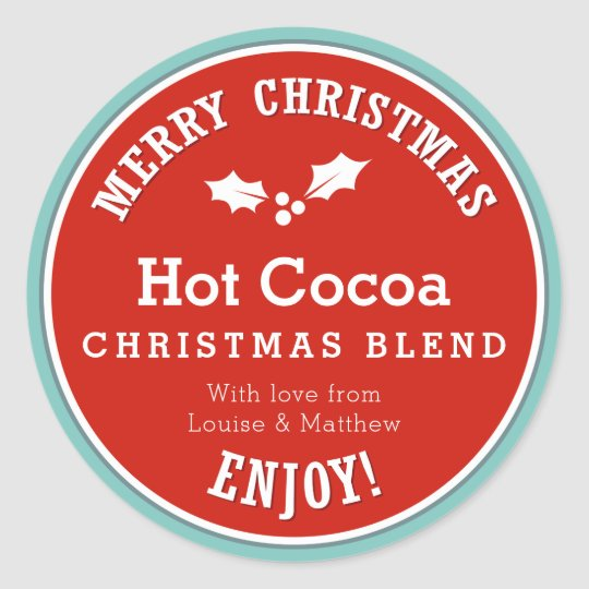 Red and blue Christmas Hot Cocoa diy gift