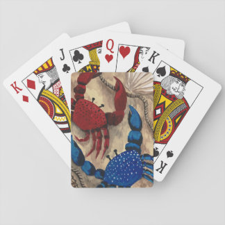 Red and Blue Crab Playing Cards