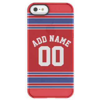 Red and Blue Custom Sports Jersey Permafrost® iPhone SE/5/5s Case