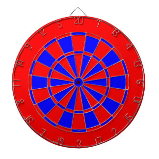Red and blue dartboard