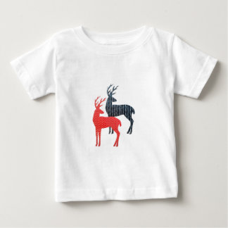 Red and Blue Deer Baby T-Shirt