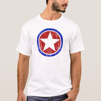 RED AND BLUE DISTRESSED STAR T-Shirt
