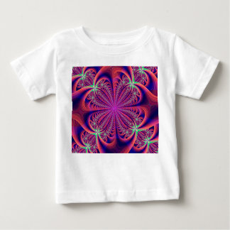 Red and Blue Fractal Flower Baby T-Shirt