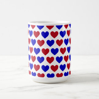 Red and Blue Hearts Mugs