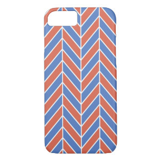 Red And Blue Herringbone iPhone 7 Case