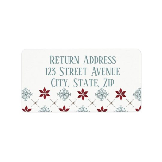 Red and Blue Holiday Mailing Label