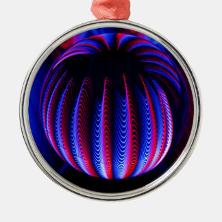 Red and Blue in the ball ball Christmas Ornament