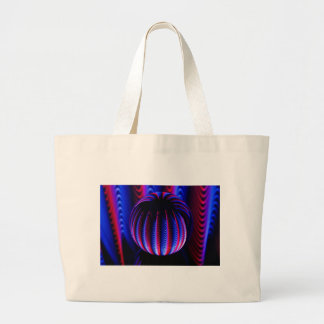 Red and Blue in the ball ball Large Tote Bag