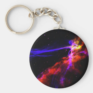 Red and Blue Nebula Keychains