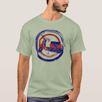 Red and blue retro scooter art T-Shirt