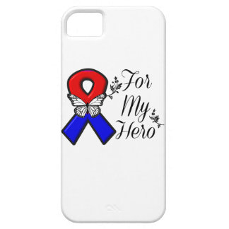 Red and Blue Ribbon For My Hero iPhone 5 Covers