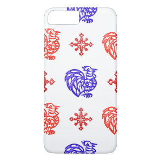 Red and Blue Roosters iPhone 7 Plus Case