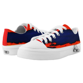 RED AND BLUE RUNNERS PRINTED SHOES