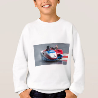 Red and blue sidecar sweatshirt