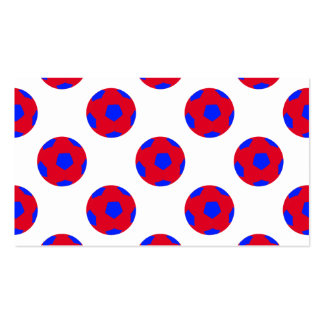 Red and Blue Soccer Ball Pattern Pack Of Standard Business Cards