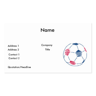 red and blue soccer scribble graphic pack of standard business cards