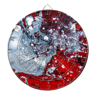 Red and Blue space marble Dartboard