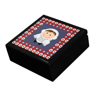 Red and Blue Stars Astronaut Gift Box