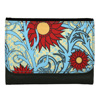 Red and Blue Sunflowers Wallets