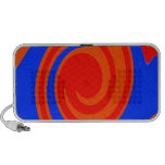 Red and Blue Swirl Travelling Speaker