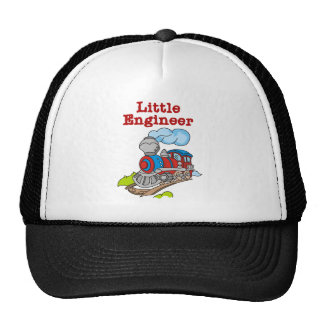 Red and Blue Train Little Engineer Cap