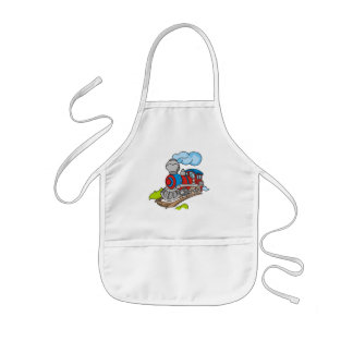 Red and Blue Train Tshirts and Gifts Kids Apron