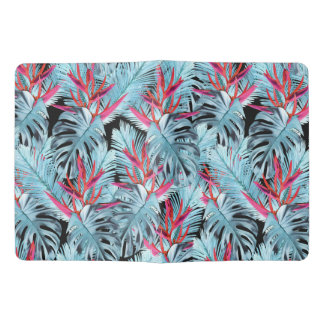 Red and blue tropical plants extra large moleskine notebook