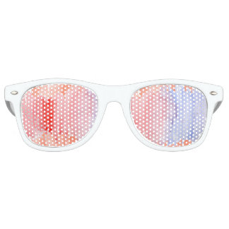 Red and Blue Watercolor Sunglasses
