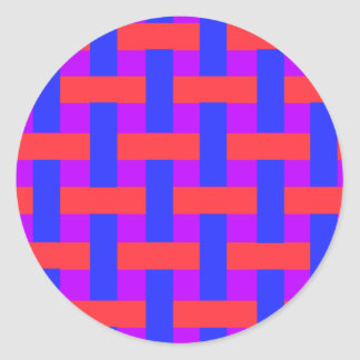 Red and Blue Woven Stickers