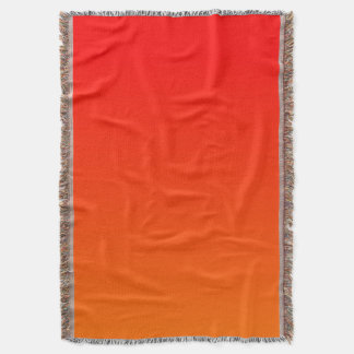 Red and Bright Orange Ombre Background Throw Blanket