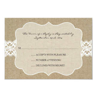 Red and Brown Chic Wood Grain Wedding rsvp Invitations