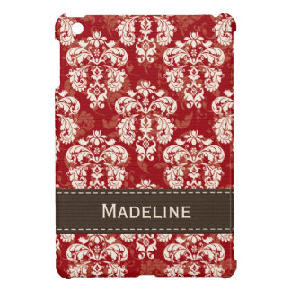 Red and Brown Damask iPad Mini Case
