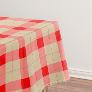 Red and brown Plaid / tartan pattern table cloth