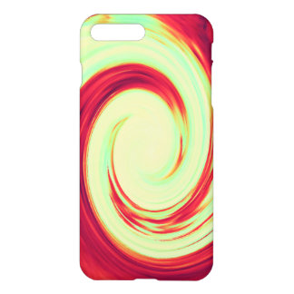 Red and Celadon Green Wave Spiral iPhone 7 Plus Case