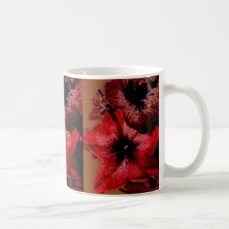 Red And Claret Petunia Coffee Mug