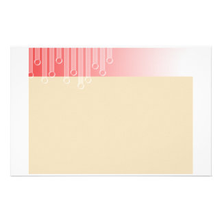Red and Cream Drops Stationary Stationery