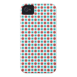 Red and cyan flowers case