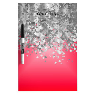Red and faux glitter Dry-Erase whiteboards