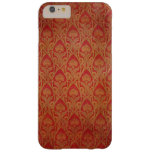Red and Gold Art Nouveau Damask