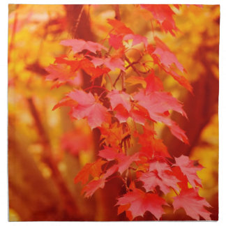 Red and Gold Autumn Napkin