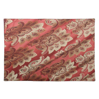 Red and Gold Brocade Placemats