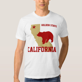 Red and Gold California Tees