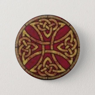 Red and Gold Celtic Knot 6 Cm Round Badge