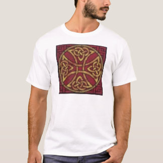Red and Gold Celtic Knot T-Shirt
