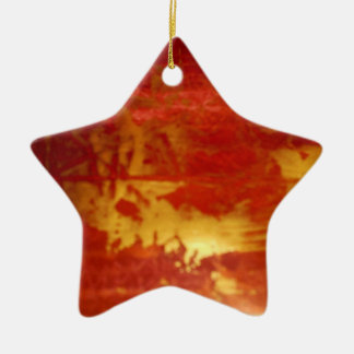red and gold ceramic decoration